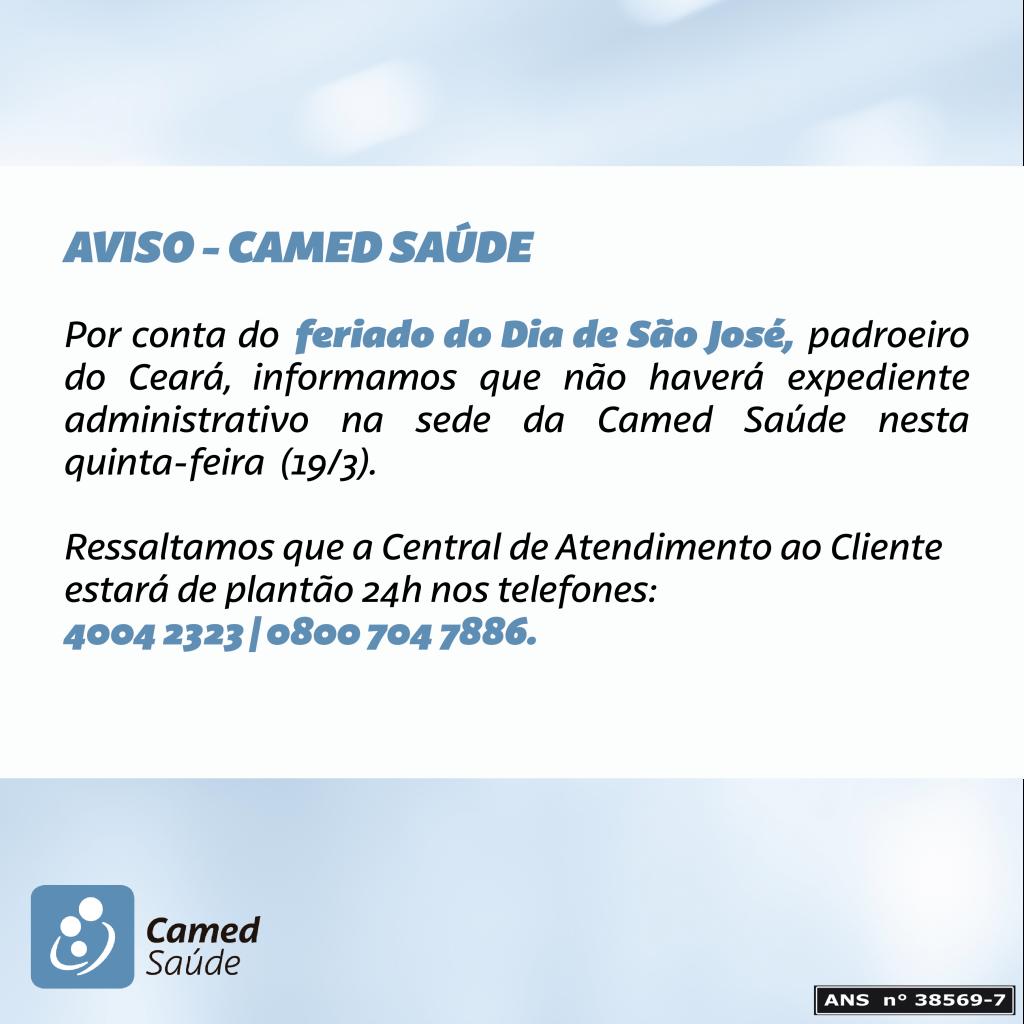 FERIADOSAO JOSE - CAMED SAUDE-01